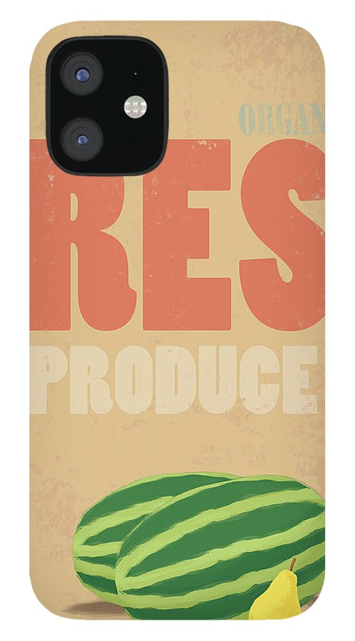 Part Of A Series iPhone 12 Case featuring the digital art Organic Fresh Produce Poster by Don Bishop