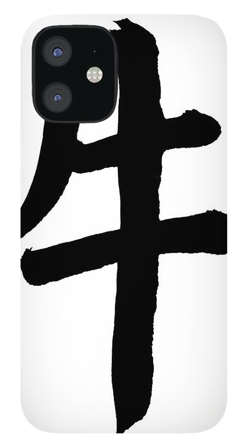 Chinese Culture IPhone 12 Case featuring the photograph Ox In Chinese, Astrology Sign by Blackred