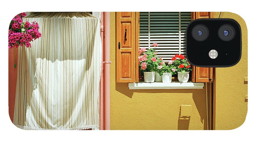 Hanging IPhone 12 Case featuring the photograph Painted House In Burano by Terraxplorer