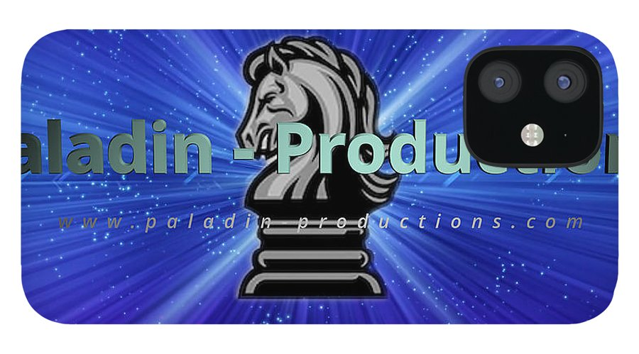 Paladin IPhone 12 Case featuring the photograph Paladin Productions logo by Alan D Smith