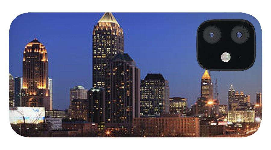 Atlanta iPhone 12 Case featuring the photograph Panorama Of Atlanta, Georgia by Jumper