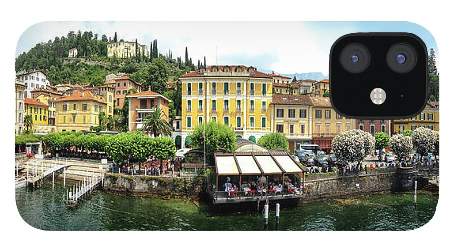 Tranquility IPhone 12 Case featuring the photograph Panorama Of Bellagio From Lake Como by Melinda Moore