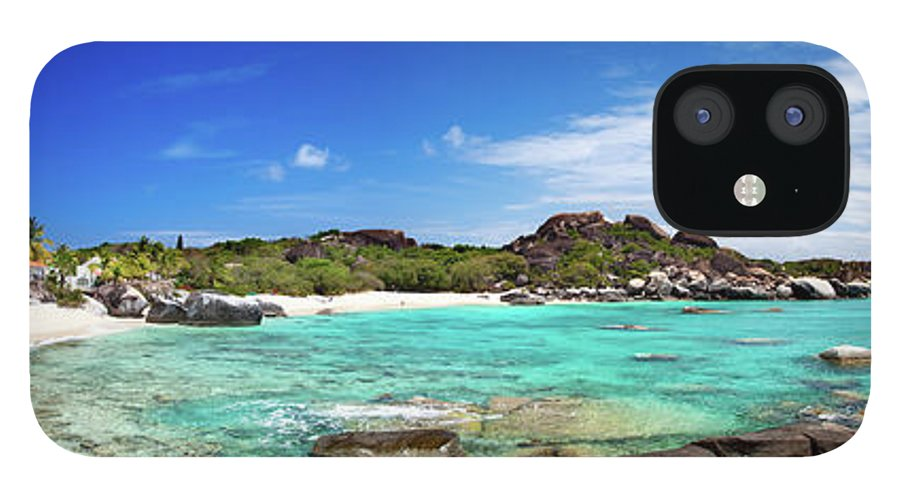 Scenics IPhone 12 Case featuring the photograph Panorama Of Spring Bay And The Baths by Cdwheatley