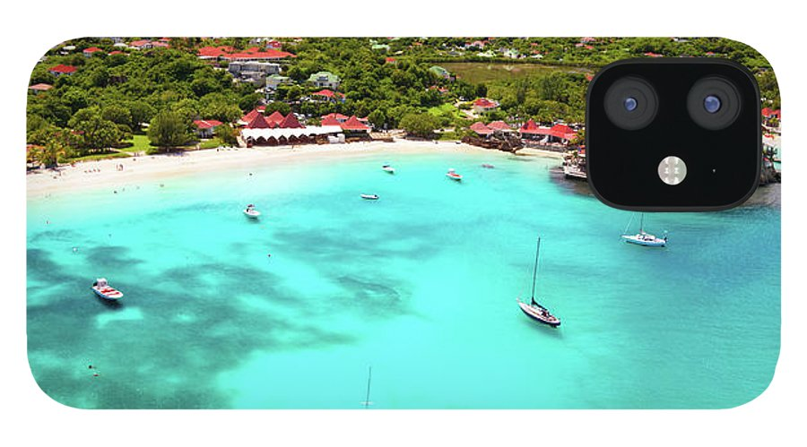 Water's Edge IPhone 12 Case featuring the photograph Panoramic View Of St.jean Bay In by Cdwheatley