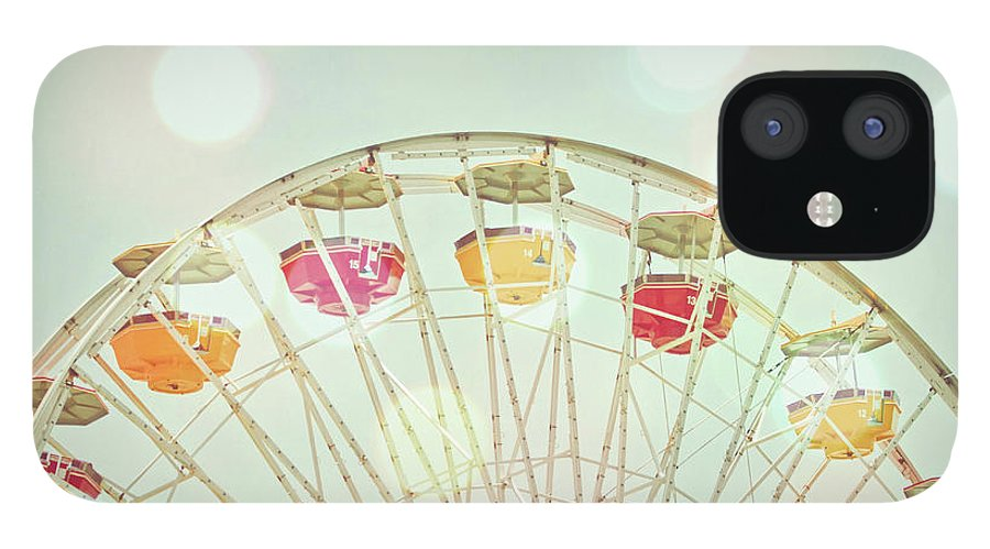 Hanging IPhone 12 Case featuring the photograph Pastel Ferris Wheel by Joyhey