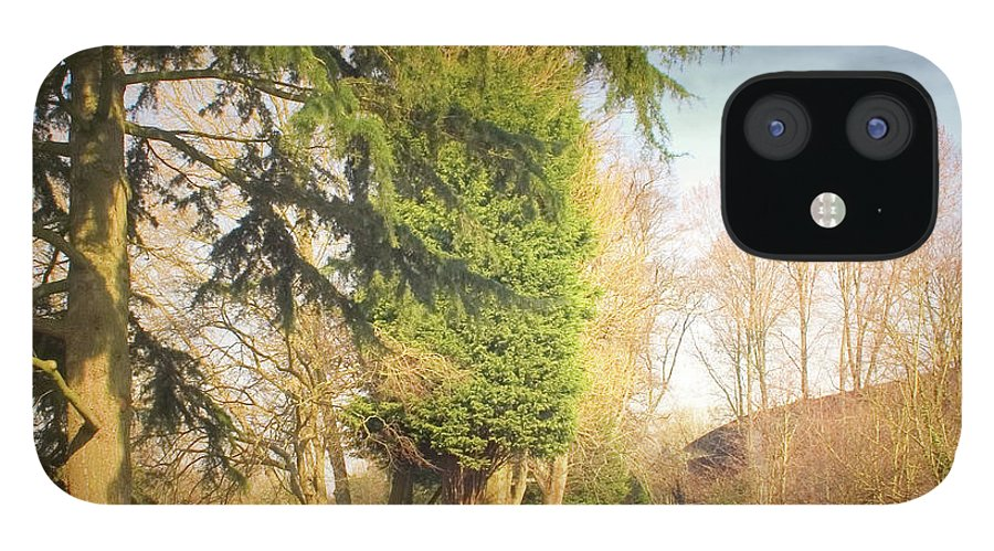 Tranquility IPhone 12 Case featuring the photograph Path Besides Canal In Bute Park by Christiana Stawski