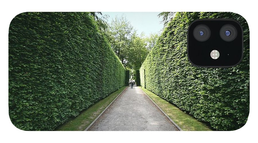 Grass IPhone 12 Case featuring the photograph Perspective View Of Beech Avenue by Martb