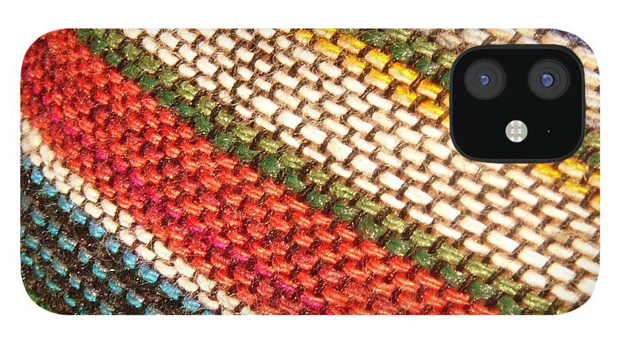 Art IPhone 12 Case featuring the photograph Peruvian Fabric Art by Images By Luis Otavio Machado