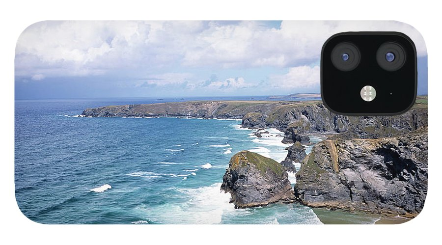 Water's Edge IPhone 12 Case featuring the photograph Picturesque Cornwall - Bedruthan by Chrisat