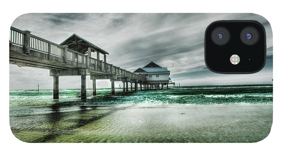 Water's Edge IPhone 12 Case featuring the photograph Pier by Chumbley Photography