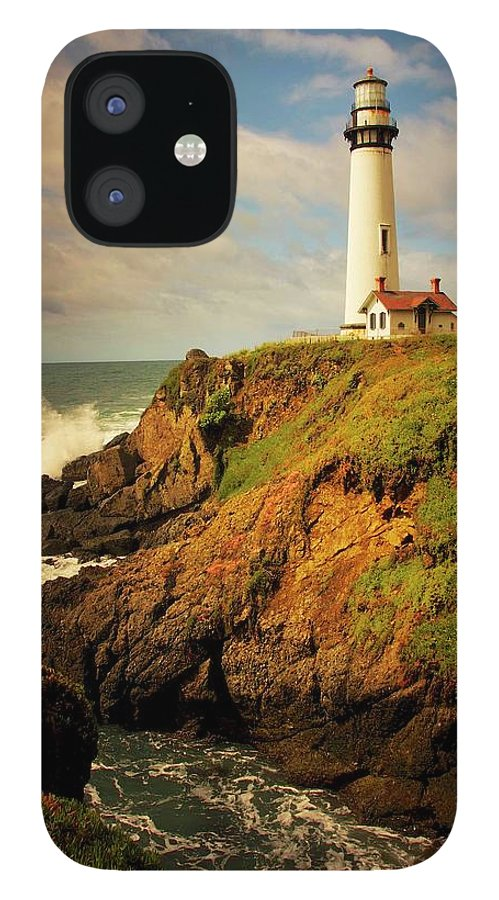 Pigeon Point Light House IPhone 12 Case featuring the photograph Pigeon Point Light Station, California by Zayne Diamond Photographic