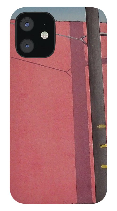 IPhone 12 Case featuring the painting Pink wall by Philip Fleischer