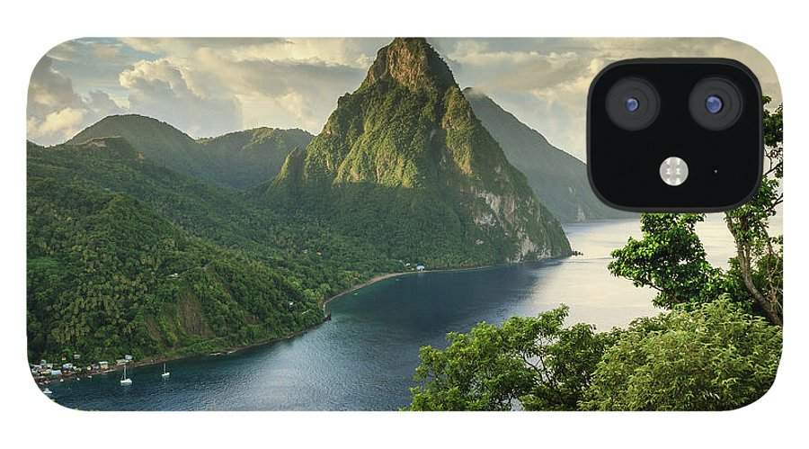 Nature IPhone 12 Case featuring the photograph Piton View - Saint Lucia by Paul Baggaley