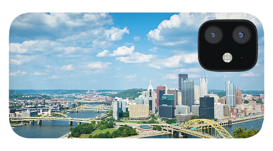Arch IPhone 12 Case featuring the photograph Pittsburgh, Pennsylvania Skyline With by Drnadig