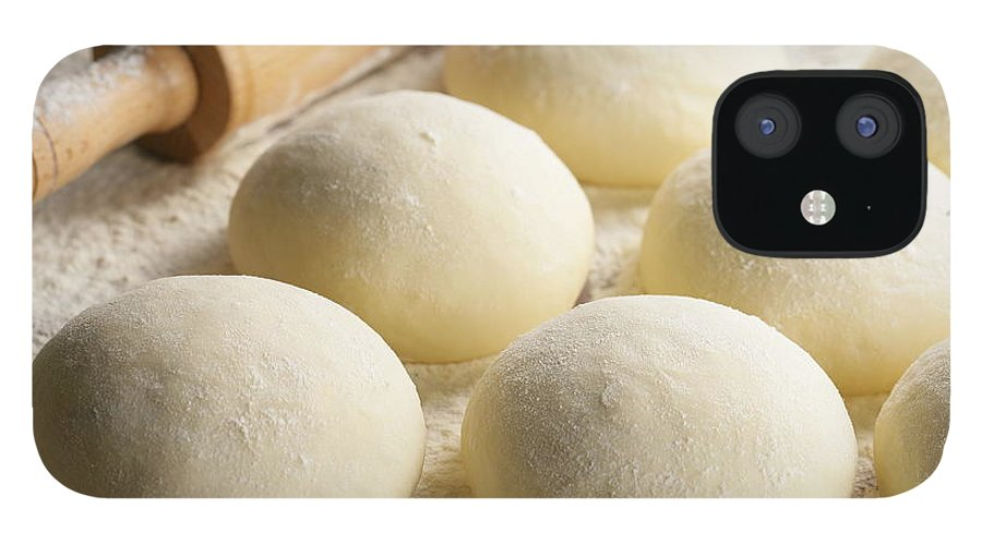 Rolling Pin IPhone 12 Case featuring the photograph Pizza Doughs by Foodad / Multi-bits