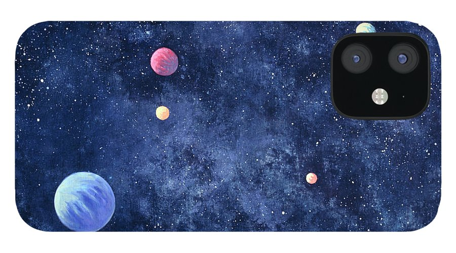 The Media IPhone 12 Case featuring the photograph Planets In Solar System by Huntstock