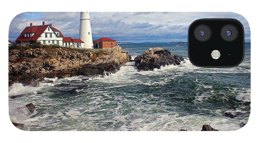 Tranquility IPhone 12 Case featuring the photograph Portland Head Lighthouse by Jeremy D'entremont, Www.lighthouse.cc