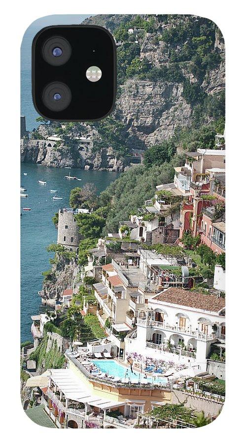 Scenics IPhone 12 Case featuring the photograph Positano - Amalfi Coast- Italy by Lrescigno