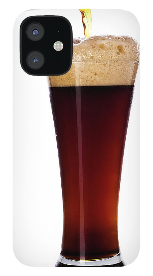 Stout IPhone 12 Case featuring the photograph Pouring The Lager by Eli asenova