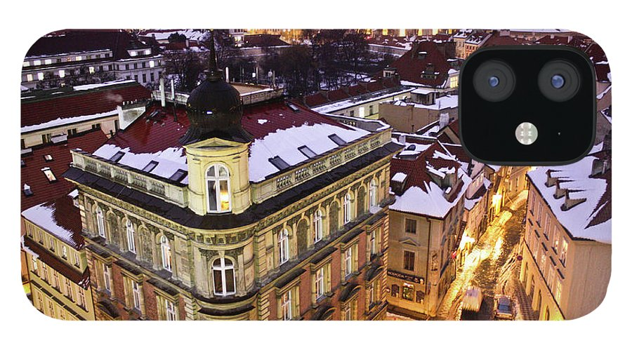 Snow iPhone 12 Case featuring the photograph Prague Lights by Usman Baporia