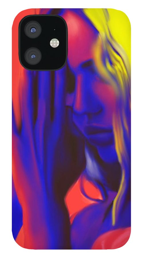 Pray iPhone 12 Case featuring the painting Prayers For The Forgotten by Jack Bunds