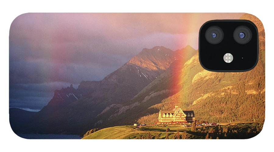 Scenics IPhone 12 Case featuring the photograph Prince Of Wales Hotel, At The End Of A by John Elk