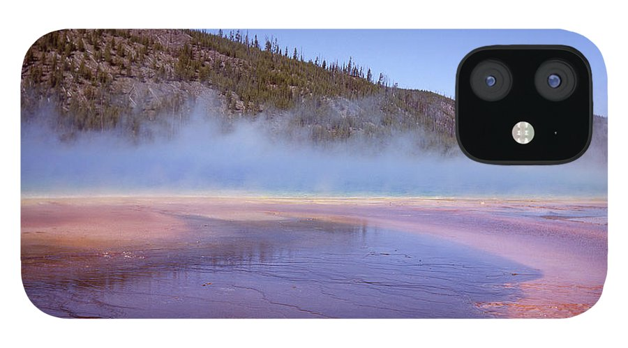 Tranquility IPhone 12 Case featuring the photograph Prismatic Spring Algae by L. Maile Smith