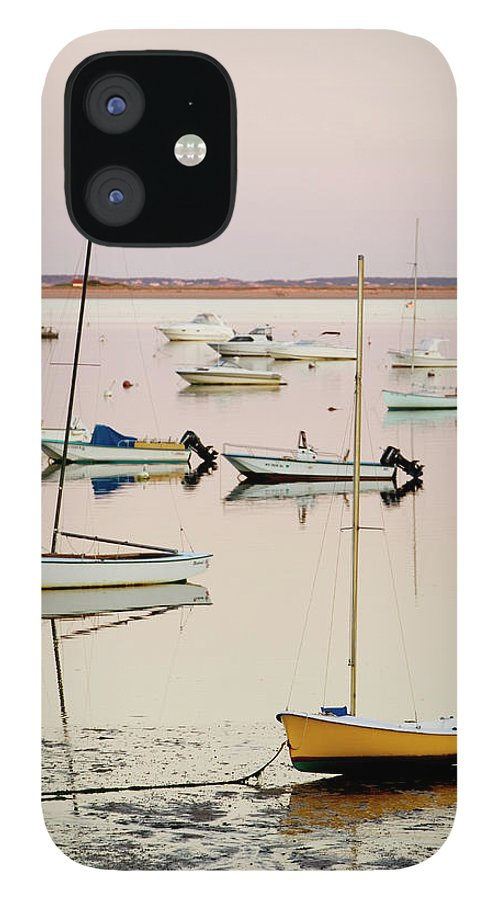 Sailboat IPhone 12 Case featuring the photograph Provincetown Harbor by Walter Bibikow