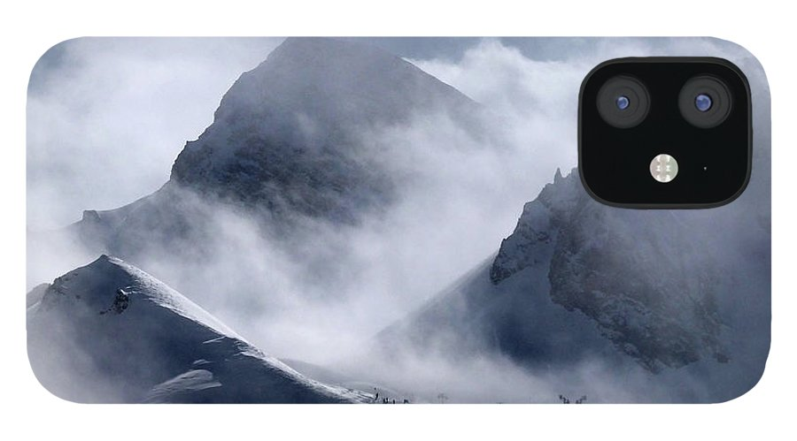Scenics IPhone 12 Case featuring the photograph Pyramide And Roc Merlet In Courchevel by Niall Corbet @ Www.flickr/photos/niallcorbet