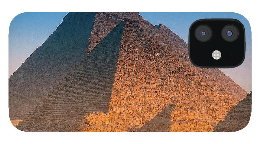 Majestic iPhone 12 Case featuring the photograph Pyramids, Cairo, Egypt by Peter Adams