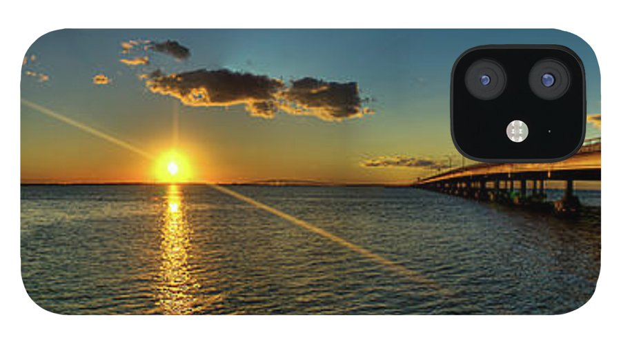 Panoramic IPhone 12 Case featuring the photograph Queen Isabella Causeway by Joshua Bozarth