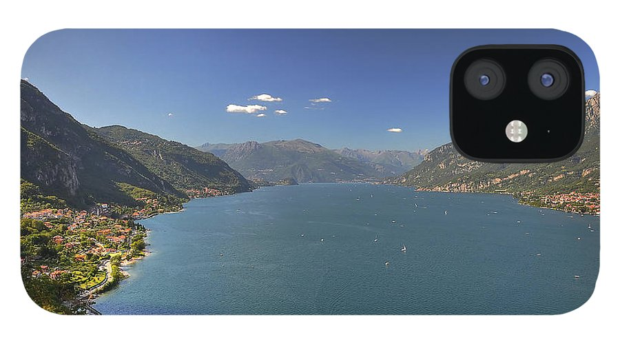 Scenics IPhone 12 Case featuring the photograph Quel Ramo Del Lago Di Como by Filippo Maria Bianchi