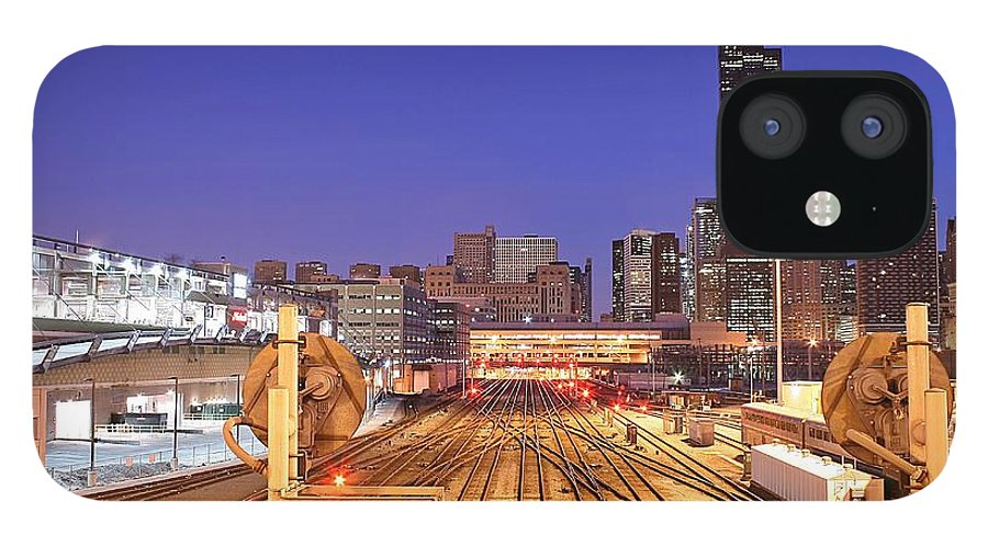 Railroad Track IPhone 12 Case featuring the photograph Rail Tracks by Joseph Balynas