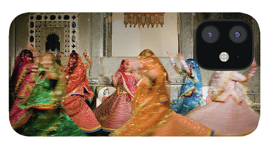 People IPhone 12 Case featuring the photograph Rajasthani Dances by Ania Blazejewska