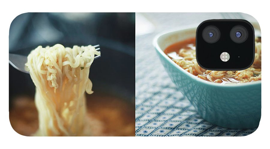 Kitchen IPhone 12 Case featuring the photograph Ramen Noodles Diptych by Alice Gao Photography