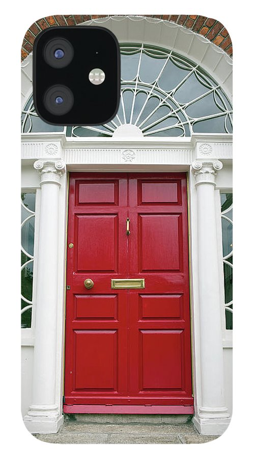 Dublin IPhone 12 Case featuring the photograph Red Door On House In Dublin Ireland by Lillisphotography