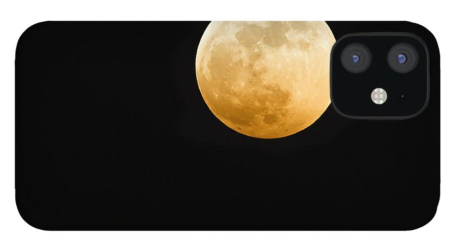 Shadow IPhone 12 Case featuring the photograph Red Moon by Stevedangers