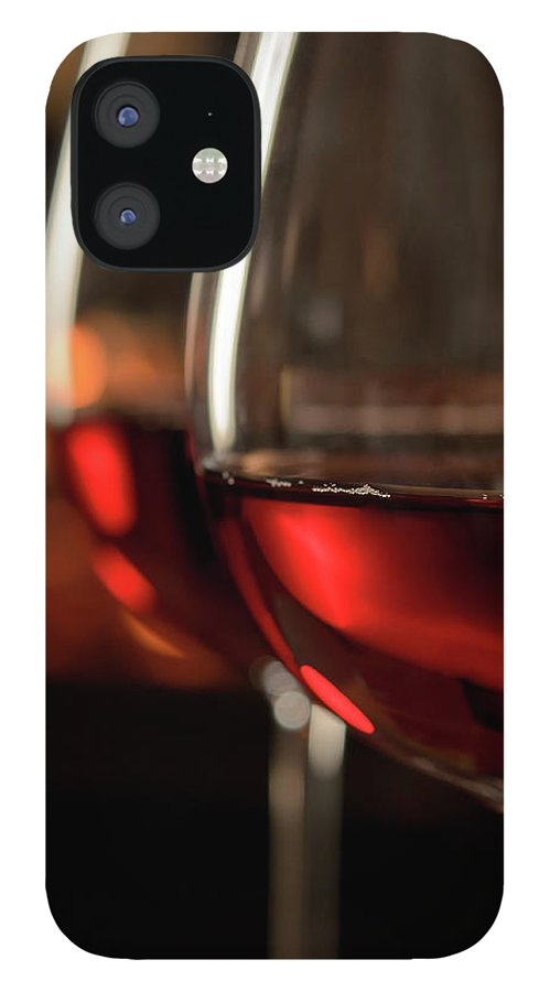 Orange Color IPhone 12 Case featuring the photograph Red Wine By The Fire by Nightanddayimages