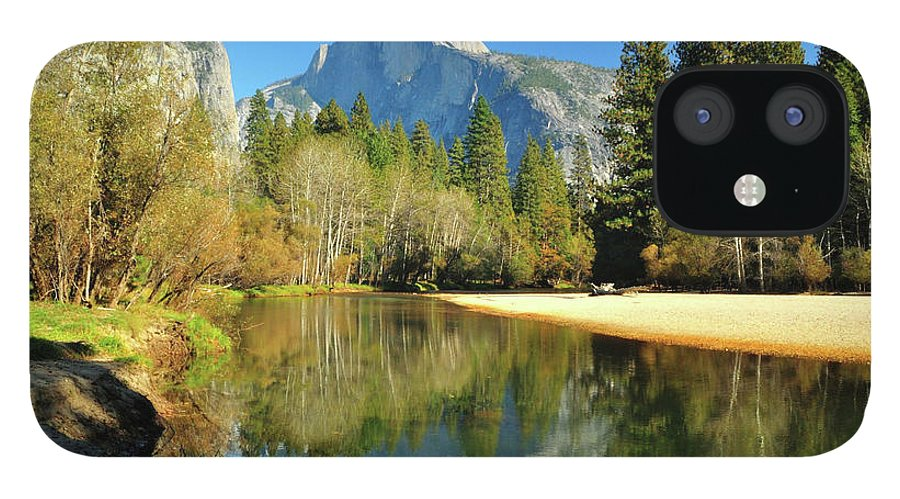 Scenics IPhone 12 Case featuring the photograph Reflections Of Half Dome by Sandy L. Kirkner