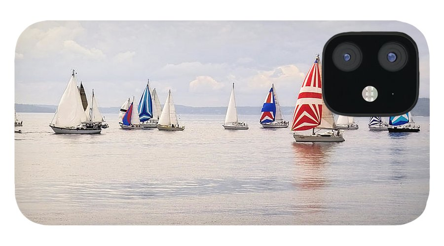 Curve IPhone 12 Case featuring the photograph Regatta by Jhorrocks