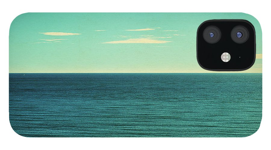 Scenics IPhone 12 Case featuring the photograph Retro Seascape Postcard by Farukulay