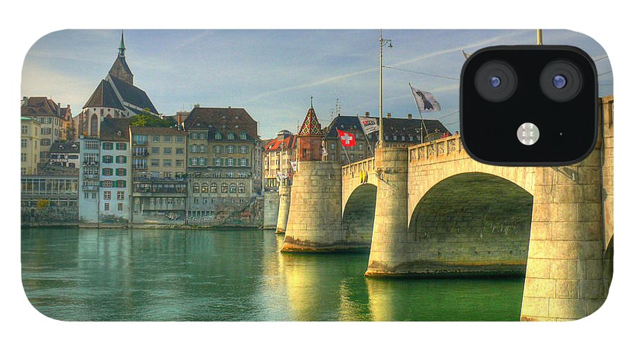 Outdoors IPhone 12 Case featuring the photograph Rhine Bridge In Basel by Richard Fairless