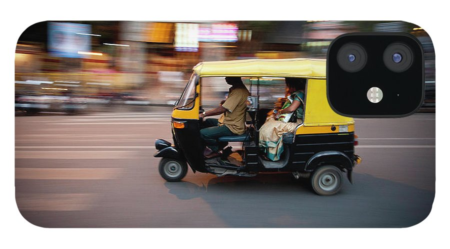 People IPhone 12 Case featuring the photograph Rickshaw by Javi Julio Photography