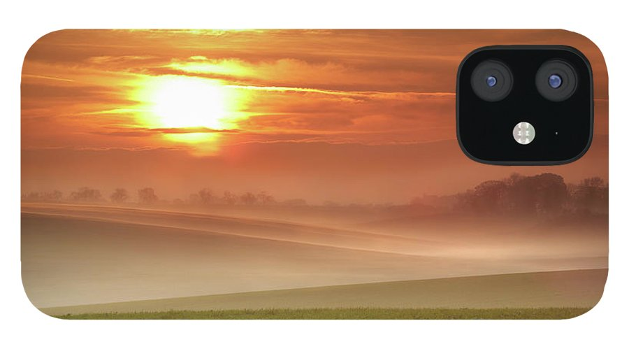 Tranquility IPhone 12 Case featuring the photograph Ripples In Mist by Andy Freer