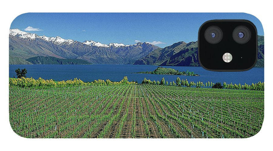 Snow iPhone 12 Case featuring the photograph Rippon Vineyard & Lake Wanaka, South by Robin Smith