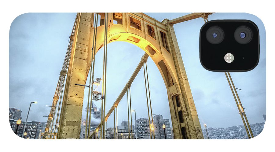 Arch IPhone 12 Case featuring the photograph Roberto Clemente Bridge by Hdrexposed - Dave Dicello Photography