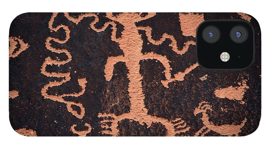 Outdoors IPhone 12 Case featuring the photograph Rock Art by Mark Newman