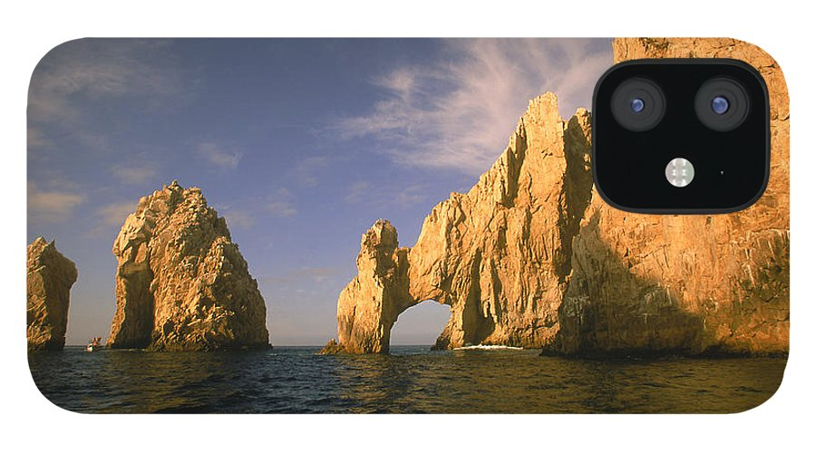 Scenics iPhone 12 Case featuring the photograph Rock Formations, Cabo San Lucas, Mexico by Walter Bibikow