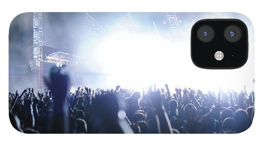 Rock Music IPhone 12 Case featuring the photograph Rocknroll Gig Rock Concert, Multiple by Upiir