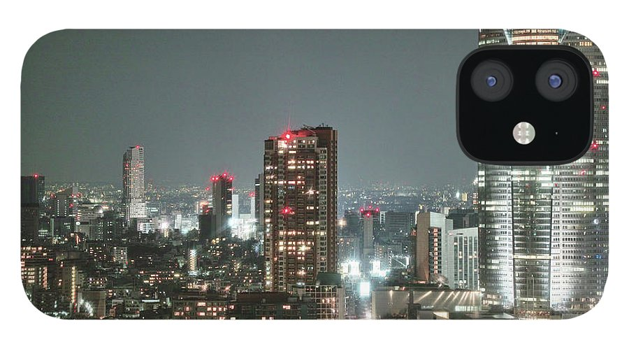 Tokyo Tower IPhone 12 Case featuring the photograph Roppongi From Tokyo Tower by Spiraldelight
